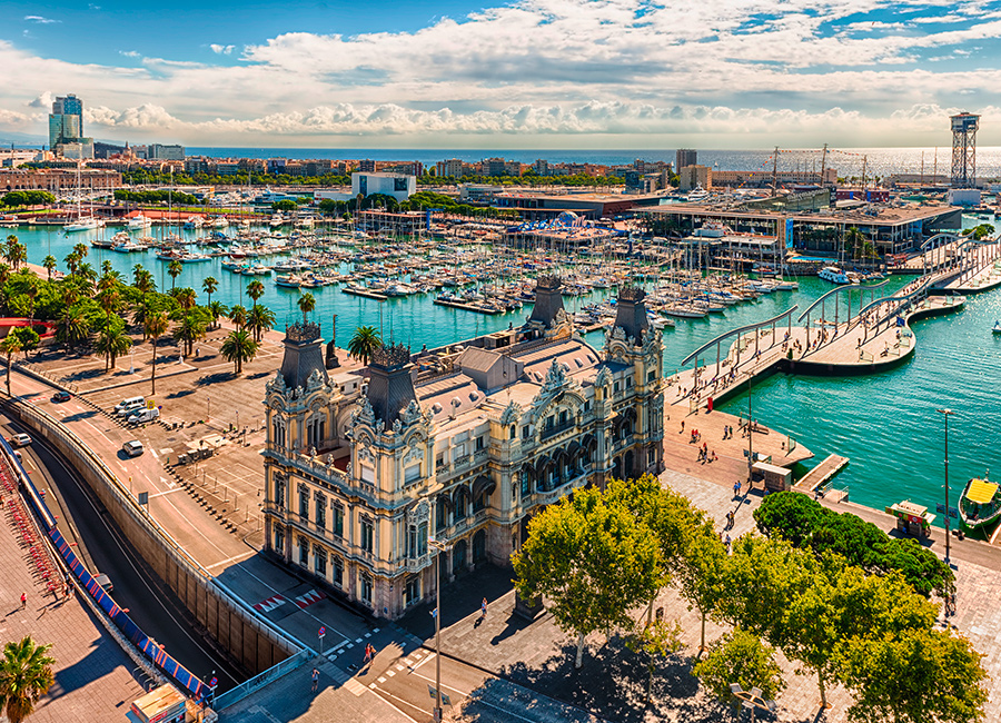 paseo puerto barcelona